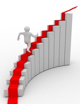 ۳d man climb the staircase